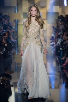 A look from the Elie Saab Couture fall 2015 collection. Photo: Imaxtree.