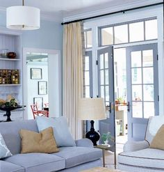 Lovely Living Room Highlighted in a Washed Out Blue !