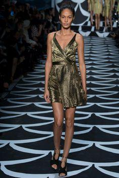 c339d29f55cd Diane von Furstenberg Fall 2014 Ready-to-Wear Fashion Show - Model Joan  Smalls