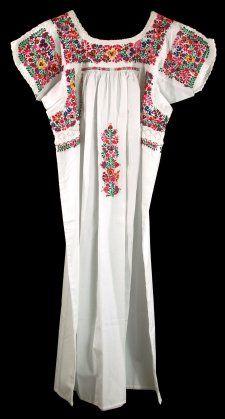 Traditional Wedding Dress from San Antonino, Oaxaca mexicantextileandcraft.com