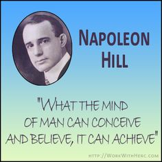 This is part 1 of the series on Napoleon Hill. Watch the video here: http://www.workwithherc.com/who-is-napoleon-hill-series-part-1/