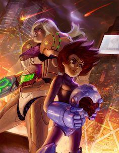 Megaman X Samus by ImmarArt on DeviantArt