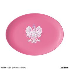 Polish eagle porcelain serving platter