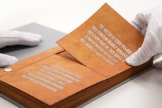 The Drinkable Book is a sanitation manual with pages that double as water filters.