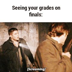 Discover & share this Supernatural GIF with everyone you know. GIPHY is how you search, share, discover, and create GIFs. Jensen Ackles Jared Padalecki, Jared E Jensen, Supernatural Jensen Ackles, College Humor, School Humor, College Life, School Life, David Duchovny, Misha Collins