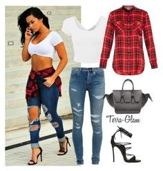 Flannel Inspiration by terra-glam on Polyvore featuring polyvore, fashion, style, Vince, Yves Saint Laurent, Dsquared2 and CÉLINE