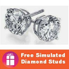 $4.99 Earrings at Tanga - this hot #deal won't last long!  SUPER PRICE! http://freebies4mom.com/diamond-studs/