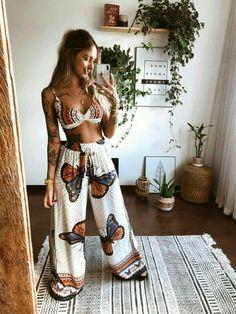 Fall Fashion Outfits, Look Fashion, Diy Fashion, Ideias Fashion, Summer Outfits, Look Boho, Look Chic, Hippie Look, Moda Hippie