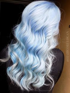 Icy Blue Hair, Silver Blue Hair, Pastel Blue Hair, Light Blue Hair, Dyed Hair Blue, Pastel Goth, Vivid Hair Color, Cute Hair Colors, Hair Dye Colors