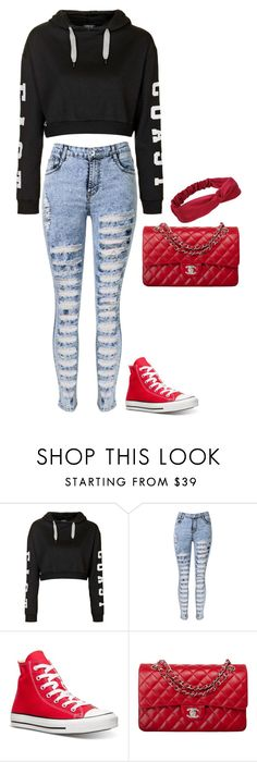 """""""Untitled #488"""" by justinbiebz94 on Polyvore featuring Topshop, Converse, Chanel, women's clothing, women, female, woman, misses and juniors"""