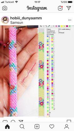 Bead Crochet Patterns, Beading Patterns, Knitting Increase, Crochet Rope, Perler Beads, Beadwork, Model, Bracelets, Beading