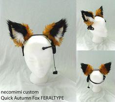 New Pair of Gray Cat Sleeve Ears Necomimi Neurowear Anime Cosplay