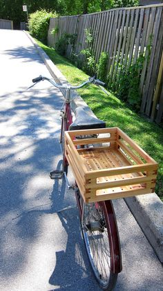 Lightweight Cedar Bicycle Basket (NEW DESIGN)