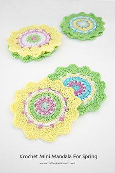 Crocheted Mandala Mini