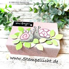 Stempellicht: Herziges - BlogHop PaStello Design Team Stampinup, Snail Mail, Decorative Boxes, Goodies, Wraps, Gift Wrapping, Gifts, Card Ideas, Design