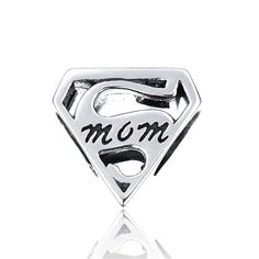 "Mom does it all, which is why she deserves to receive one of these awesome sterling silver ""SuperMom"" bead charms on her birthday, Christmas or Mother's Day!    Buy any 2 charm and use code TWOITEMS at checkout to receive 10% discount on your order.    Buy any 3 charm and use code THREEITEMS at checkout to receive 12% discount on your order.  Buy any 4 charm and use code FOURITEMS at checkout to receive 15% discount on your order.       Comes in branded luxury pouch and paper gift bag for…"