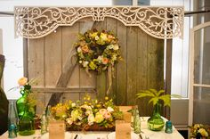Altar backdrop for ceremony? From A la Crate vintage rentals in Madison. Check them out!