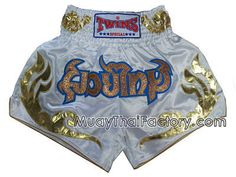 Twins special TWINS Special Muay Thai shorts - MT Tattoo - WHITE for sale. [TBS-X-103].      muay thai shorts and training gear