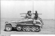 Rommel in his command vehicle in the summer of 1942 with Panzer Geenral Fritz Bayerlein.