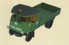 Škoda Sentinel Truck Free Vehicle Paper Model Download