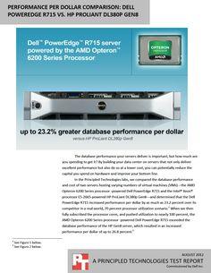 Performance per dollar comparison: Dell PowerEdge R715 vs. HP ProLiant DL380p Gen8 http://facts.pt/1pBUm2h