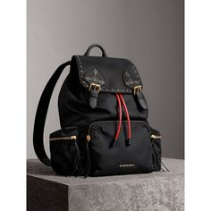 The Large Rucksack in Nylon and Riveted Leather Large Rucksack b66d559048e7f