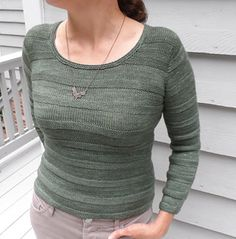 Avenue pullover - top-down, seamless, simultaneous set-in sleeves
