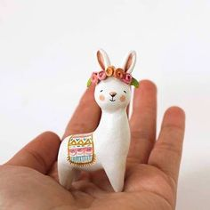 kawaii clay llama - SALE *** it was Bunnybrids: they think you wont realize they are NOT bunnies. Hand-sculpted in paper clay, painted and sealed. Sculptures Céramiques, Sculpture Clay, Ceramic Animals, Ceramic Art, Polymer Clay Animals, Diy Clay, Clay Crafts, Plastic Fou, Fimo Kawaii