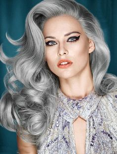latest silver hair styles pictures is more than on trend right now. Grey hair is no longer considered 'granny hair' Grey Hair Dye, Silver Grey Hair, White Hair, Silver Wigs, Ombre Hair, Corte Y Color, Grunge Hair, Hair Photo, Great Hair