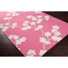 @Overstock - Hand-woven in wool, this rug features colors of flamingo pink, and papyrus. Its unique design will make this rug stand out in any home.http://www.overstock.com/Home-Garden/Jill-Rosenwald-Hand-woven-Pink-Faller-Wool-Rug-5-x-8/6765123/product.html?CID=214117 $413.00