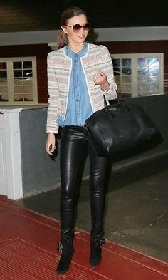 Miranda Kerr in Mango jacket - Celebrities In High Street