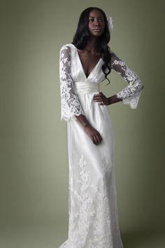 1900s Victorian style cream lace dress Vintage Lace Weddings, Hippie Chic,  Boho Chic, b653e8136ea7
