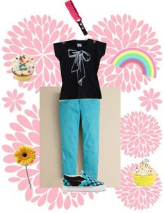 """Cute toddler girl outfit!!"" by emmabananacva ❤ liked on Polyvore"
