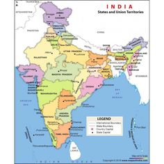 The India political map for kids shows all the states and union territories of India along with their capital cities. political map of India is made clickable to provide you with the in-depth information on India. Travel Maps, Travel And Tourism, India Travel, Indian River Map, Indian Temple, Nigeria Travel, States And Capitals, Union Territory, Geography Map