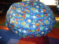 Rocket with Planets Bean Bag Chair Cover  by CopperBugCompany, $55.00