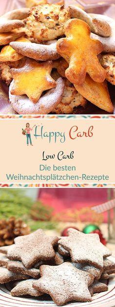 Die besten Low Carb Weihnachtsplätzchen-Rezepte.   Low Carb Rezepte von Happy Carb. https://happycarb.de/rezepte/backen/ja-ist-denn-schon-zeit-fuer-weihnachtsplaetzchen/