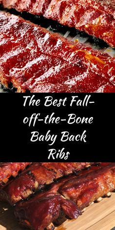 The Best Fall-off-the-Bone Baby Back Ribs - Slowpoke Cooking Best Smoked Ribs, Smoked Pork Ribs, Grilled Baby Back Ribs, Baby Back Pork Ribs, Smoking Baby Back Ribs, Traeger Recipes, Smoked Meat Recipes, Pork Rib Recipes, Grilled Chicken Recipes
