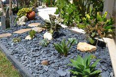 92 meilleures images du tableau parterre avec cailloux landscaping ideas backyard patio et. Black Bedroom Furniture Sets. Home Design Ideas