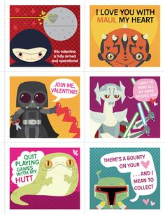 More Scholastic Star Wars Valentines. <3