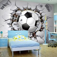 90 cool teenage room ideas for inspiration jungs wandgestaltung 90 cool teenage room ideas for inspiration Blue Bedding, Blue Bedroom, Boy Room, Kids Room, Attic Bedroom Designs, Youth Rooms, Teenage Room, Toddler Rooms, Loft Design