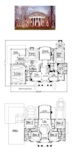 Plantation House Plan 72143 | Total Living Area: 5083 sq. ft., 5 bedrooms and 5.5 bathrooms. #plantationhome