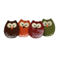 Owl Appetizer Plate Set