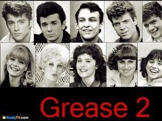 #Grease 2 Maxwell Caulfield(Michael),Adrian Zmed(Johnny),Peter Frechette(Louis),Christopher McDonald(Goose),Leif Green(Davey),Michelle Pfeiffer(Stephanie),Lorna Luft(Paulette),I don't know her real name,I don't know her real name & Pamela Adlon(Dolores)
