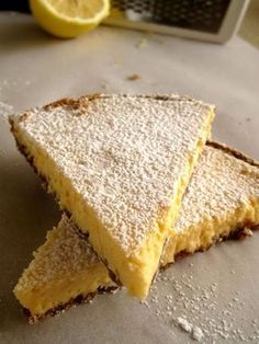 A simple but delicious lemon tart - World Cuisine Audition Lemon Recipes, Greek Recipes, Cookbook Recipes, Dessert Recipes, Desserts, Food Decoration, Cake Cookies, Food To Make, Bakery