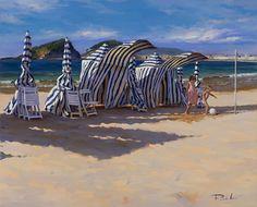 Ricardo Sanz – Carpas al viento Óleo sobre lienzo. 81×100 cms.