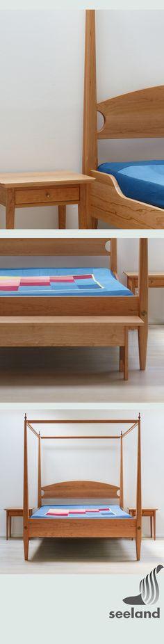 Himmelbett (pencilpost Bed) Aus Kirschbaum   Kein Shakerbett, Da Sie Ja  Auch Keine