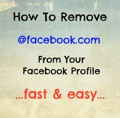 How to remove the new Facebook email address from your Facebook profile: How to change it back.