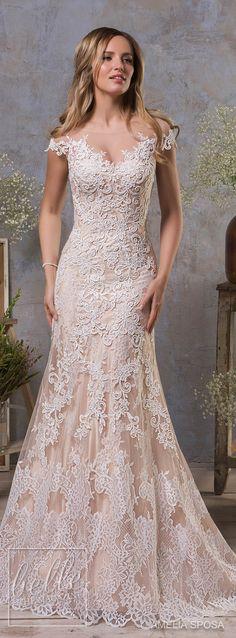 Amelia Sposa Fall 2018 Wedding Dresses - lace bridal gown #weddingdress #bridalgown #bridal #weddinggown #bridalcouture