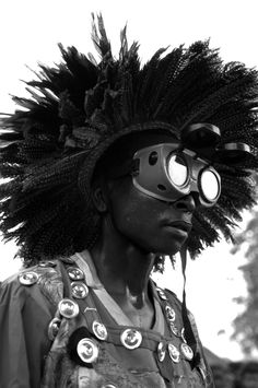 The Circumcisionist -photo taken in Malawi by Liz Gilbert #Africa #blackandwhite #tribe #photography #Malawi #costume #headdress