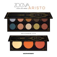 #makeuphuntersnews #zoeva #zoevaaristo ARISTO Eyeshadowpalette, Blush Palette, Brush Kit, Zoeva Cosmetics launching : 04/12/17